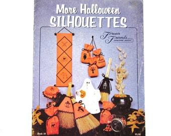 Halloween Cross Stitch Book, Vintage Craft, More Halloween Silhouettes