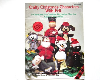 Christmas Craft Book, Characters With Felt