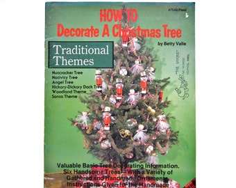 Christmas Craft Book, How to Decorate a Christmas Tree, Vintage