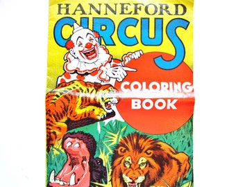 Hanneford Circus Coloring Book, Vintage