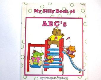 Alphabet Book, My Silly Book of ABC's, Vintage Children