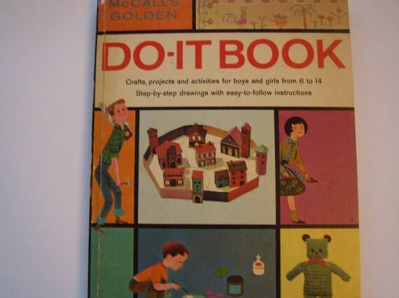 Vintage Children's Craft Book, Do-It Book, McCalls Golden, 1960s