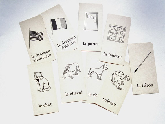 Vintage French Flashcards, Animals and Misc.