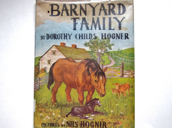 Barnyard Family, a 1948 Vintage Children's Book