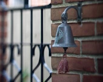 German Village Iron Gate and Bell, Columbus, Ohio - Homemade Tilt-Shift Lens Photograph 8x10 Color Print Home Decor