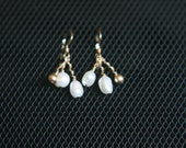 Gold Bead and Pearl Earrings - No. 3