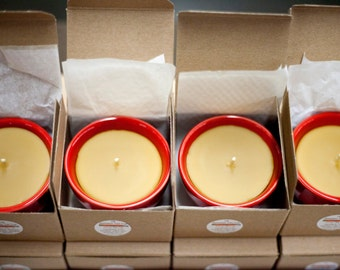 Red Tea Cup - Natural Beeswax