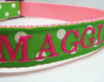 Embroidered Dog Collar- Personalized Dog Collar
