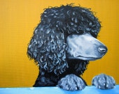 """Custom Pet Portrait oil painting on Stretched canvas 9"""" x 12"""" Beautiful gift for the animal lover"""