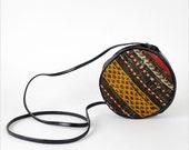 HOLD kilim circle bag / tribal cross body purse