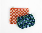 two beaded pouches / colorful pattern change purses