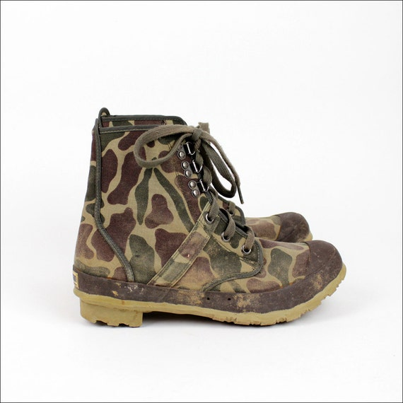 duck boots / Hodgman camouflage swamp boots / mens 9 womens 11