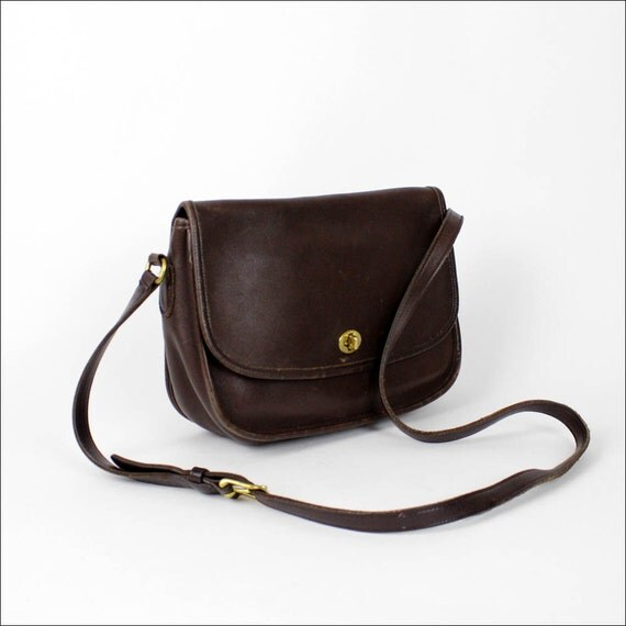 Coach brown leather satchel / vintage City Bag / espresso brown