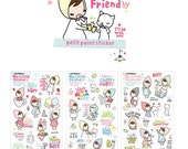Cute Decoration Stickers for Diary Photo Note - My Little Friend Petit Point