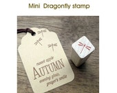 Mini Dragonfly Rubber Stamp