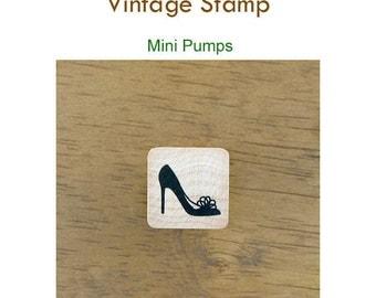 Vintage Style Rubber stamp - Mini pumps