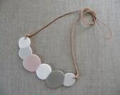 Marshmallow Porcelain Necklace