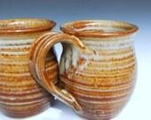 Ceramic Mug Honey Red Glaze