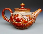 Personal Teapot Honey Red Glaze