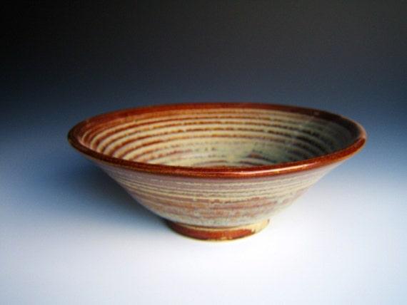 Small Fruit Bowl Honey-Red and Cream Glaze