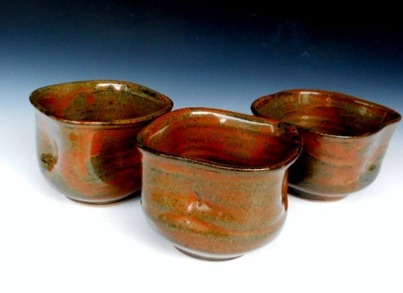 Set of 3 Altered Small Bowls