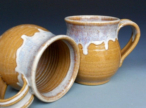 Ochre Mug. Ceramic Coffee Mug