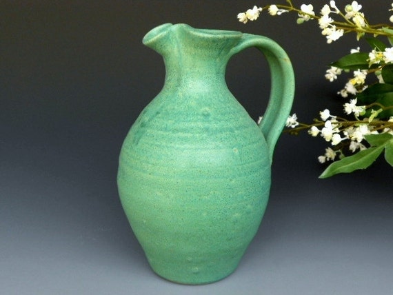 Seconds Flower Vase Pitcher Green