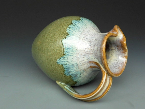 Flower Vase Pitcher Waterfall Glaze