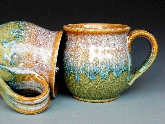 Pottery Mug Ceramic Coffee Mug Round Waterfall