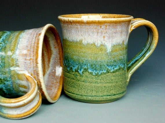 Pottery Mug Ceramic Coffee Mug Tri Layered
