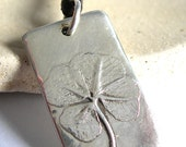 Four leaf clover 'Be Lucky' pendant  in recycled silver