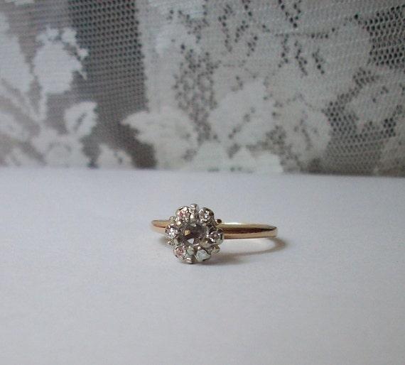 Retro 50's Stylecrest 14k Solid Gold Diamond Ring Semi Mount
