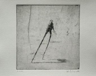 Original Etching Walking V