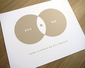 Where We Meet Venn Diagram - Art Print - Small Size