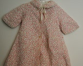 RESERVED.  Vintage 1950s Baby Girl Quilted Floral Lace Trimmed Geisha Robe 6 9 12 months