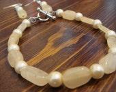 Cream Quartz Bracelet Set