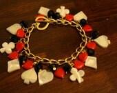 Reserved for ParkAvePosh- Queen of Hearts Bracelet