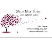 Heart Tree Matching Business Card Design
