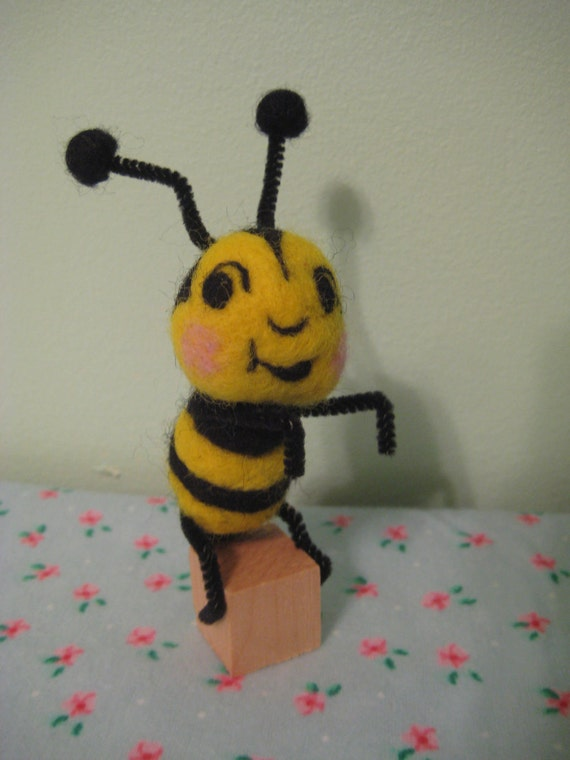 Needle Felted Bumble Bee