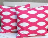 Decorative Pillows Hot Pink Pillows Ikat Pillow Covers Throw Pillow Covers Cushion Covers 20 x 20 Inches