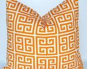 Orange PIllow Decorative Throw Pillow Covers Pillowcase Throw Pillow Cushion Covers 18 x 18 Inches Pair of Two