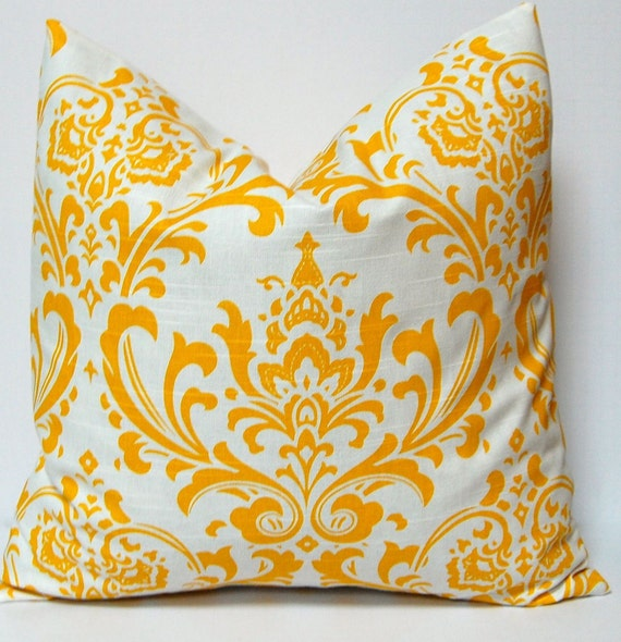 Items similar to Pillows, Decorative Pillows, Yellow Pillow Accent Pillows Cushion Covers - 20 x ...