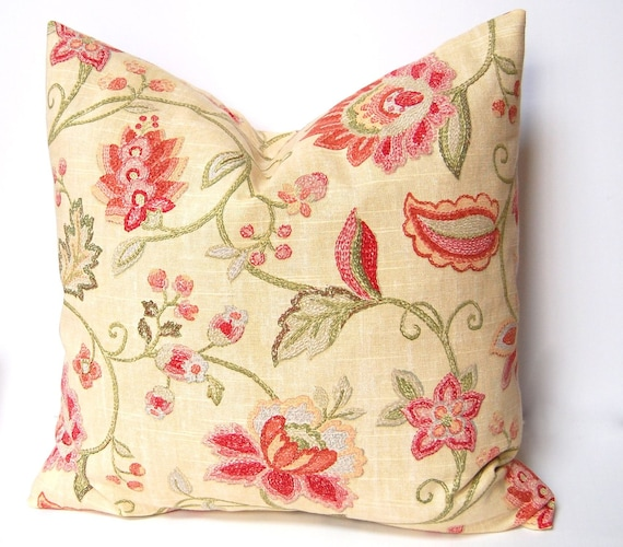 Pillows Throw Pillow Covers, Accent Pillows 20 x 20 Inches Yellow Linen Floral