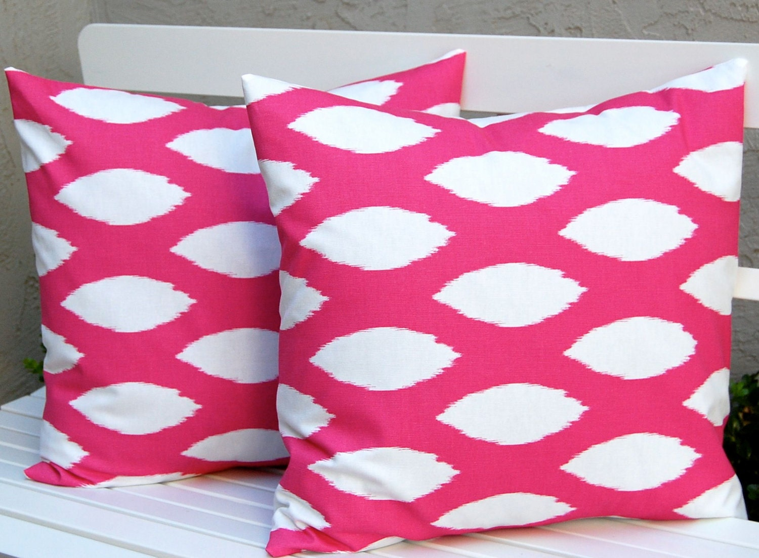 decorative pillows hot pink pillows ikat pillow covers throw. Black Bedroom Furniture Sets. Home Design Ideas