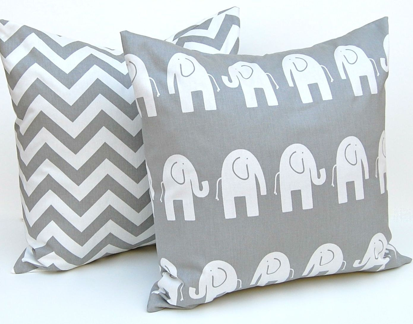 7 Inspiring Kid Room Color Options For Your Little Ones: Decorative Pillows Children Decor Gray Animal By