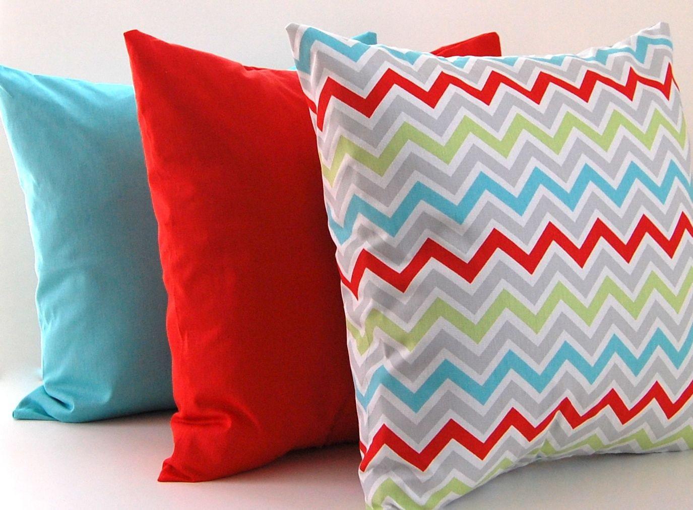 Chevron Pillows Decorative Throw Pillow Covers Missoni Style