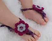 Baby Barefoot Sandals. Girl stylish foot wear for those tiny earth bound toes.