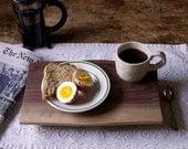 The Original New York Cafe Walnut Footed Platte
