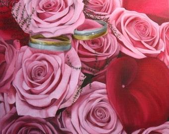 Bridal Bouquet - Original Oil Painting