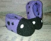 Colorful Knit Ladybug Slippers